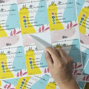Planilla de etiquetas rectangulares